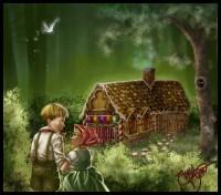 hansel in padure 200x176 Hansel si Gretel