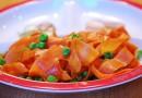 Garnitura apetisanta de morcovi si mazare