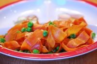 garnitura morcovi si mazare 200x133 Garnitura apetisanta de morcovi si mazare