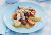 legume cu carne la cuptor 200x136 Legume cu pulpe de pui la cuptor