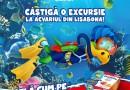 Explorează lumea subacvatică alături de Dino și poți câștiga o excursie la acvariul din Lisabona